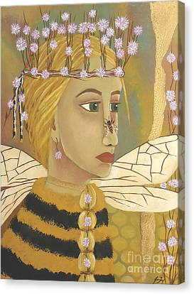 The Queen Bee's Honeycomb Canvas Print