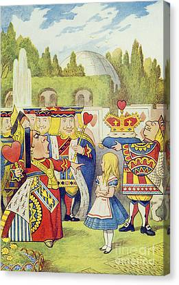 The Queen Has Come And Isnt She Angry Canvas Print by John Tenniel