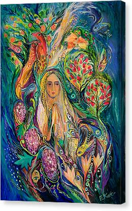 The Queen Of Shabbat Canvas Print by Elena Kotliarker