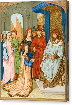 San Marco Canvas Print - The Queen Of Sheba Before Solomon. 15th by Vintage Design Pics