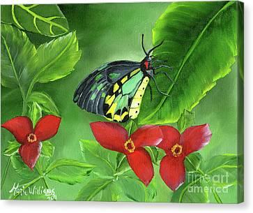 The Queen's Garden Canvas Print by Maria Williams