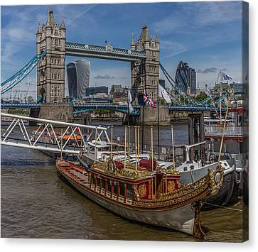 The Queen's Rowbarge Canvas Print by Capt Gerry Hare