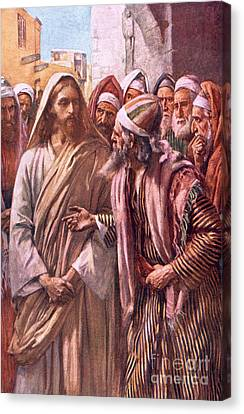 The Question Of The Sadducees Canvas Print by Harold Copping