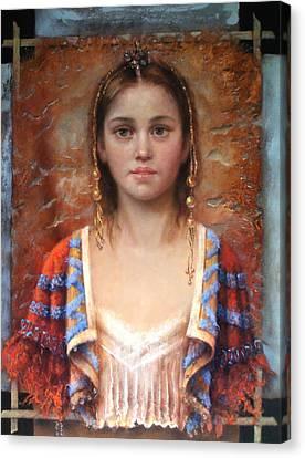 The Quiet Girl Canvas Print by Loretta Fasan