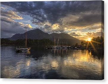 British Columbia Canvas Print - The Quiet Sunrise - Tofino Bc by Mark Kiver