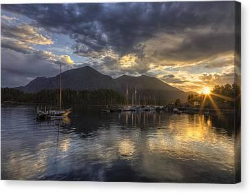 The Quiet Sunrise - Tofino Bc Canvas Print by Mark Kiver