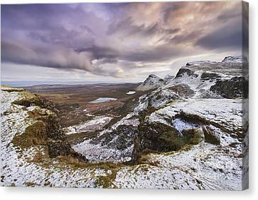 Snowy Scene Canvas Print - The Quiraing 1 by Rod McLean
