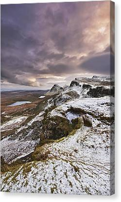 Snowy Scene Canvas Print - The Quiraing 2 by Rod McLean