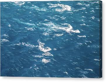 Choppy Canvas Print - The Race by Az Jackson