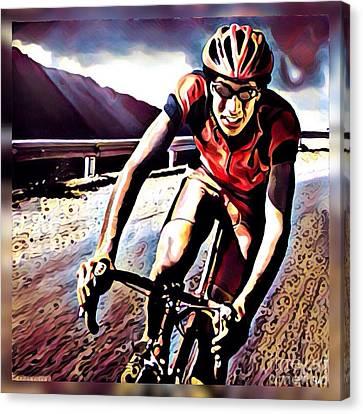 The Race Canvas Print by Maria Watt