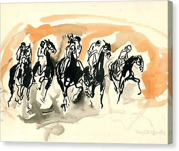 The Race Canvas Print by Mary Armstrong