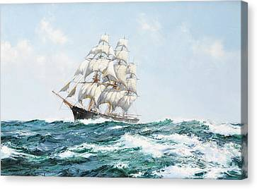 The Racing Sky Canvas Print by Montague Dawson