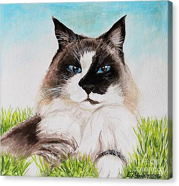 Canvas Print featuring the painting The Ragdoll by Elizabeth Robinette Tyndall