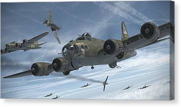 The Ragged Irregulars Canvas Print by Robert Perry