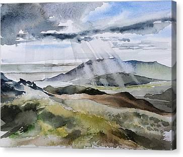 The Rain In Spain Canvas Print by Stephanie Aarons