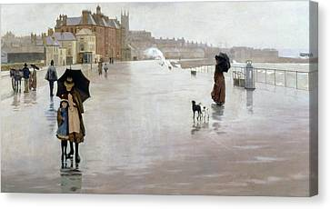 The Rain It Raineth Every Day Canvas Print by Norman Garstin