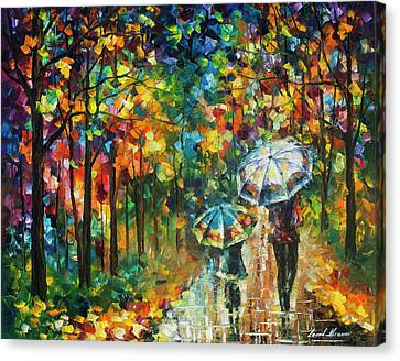 The Rain Of Childhood Canvas Print by Leonid Afremov