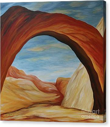 Canvas Print featuring the painting The Rainbow Bridge II by Christiane Schulze Art And Photography