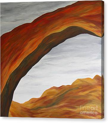 Canvas Print featuring the painting The Rainbow Bridge V by Christiane Schulze Art And Photography