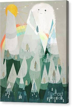 Critter Canvas Print - The Rainbow Critter by Bleu Bri
