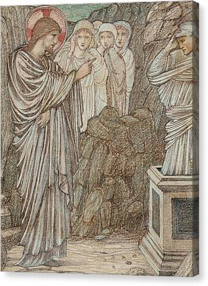The Raising Of Lazarus Canvas Print by Edward Burne-Jones
