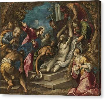 The Followers Canvas Print - The Raising Of Lazarus by Follower of Palma Il Giovane