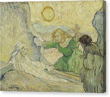 The Raising Of Lazarus Canvas Print by Vincent van Gogh