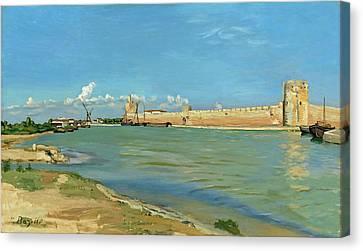 The Ramparts At Aigues Mortes Canvas Print