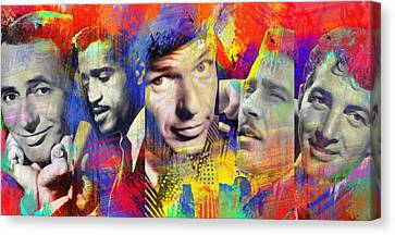 The Rat Pack Art By Diana Van Canvas Print