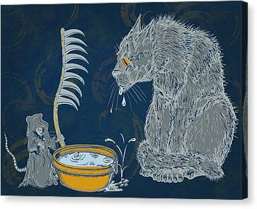 The Rat Reaper Canvas Print by Laura Brightwood