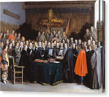 The Ratification Of The Treaty Of Munster, 15 May 1648 Canvas Print