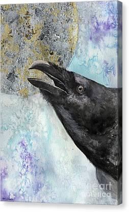 The Raven 2017 03 09 Canvas Print by Angel Tarantella