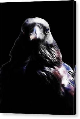The Raven In My Dreams Canvas Print by Wingsdomain Art and Photography