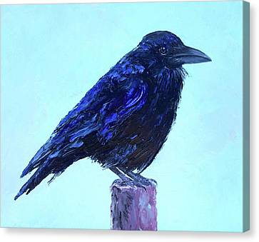 The Raven Canvas Print by Jan Matson