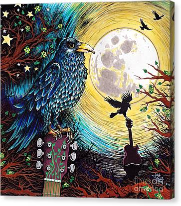 The Raven Canvas Print by Julie Oakes