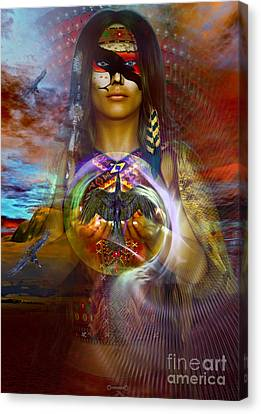 the RAVEN  spirit Canvas Print by Shadowlea Is