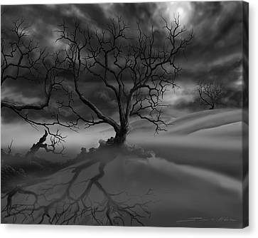 The Raven's Night Canvas Print by James Christopher Hill