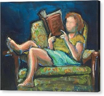 The Reader Canvas Print by Buffalo Bonker