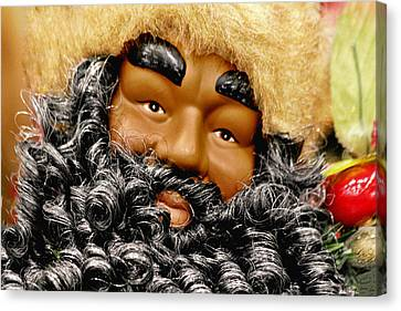 The Real Black Santa Canvas Print by Christine Till