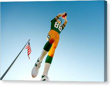 Lambeau Field Canvas Print - The Receiver by Todd Klassy
