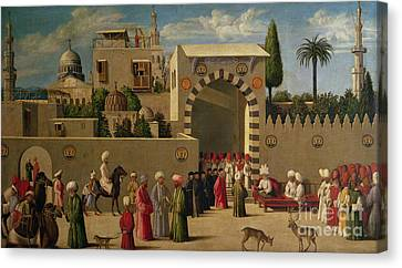 The Reception Of Domenico Trevisani In Cairo Canvas Print by Italian School