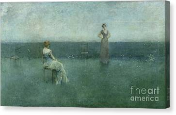 The Recitation Canvas Print by Thomas Wilmer Dewing