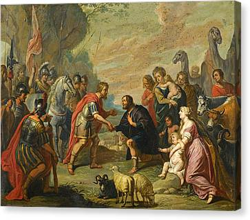 The Followers Canvas Print - The Reconciliation Of Esau And Jacob by Follower of Peter Paul Rubens