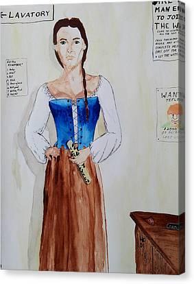 The Recruit Canvas Print by Helen Krummenacker