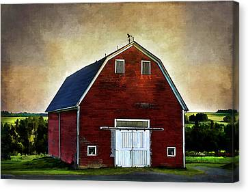 The Red Barn Canvas Print by Gary Smith