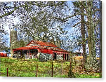 The Red Barn Canvas Print by Reid Callaway