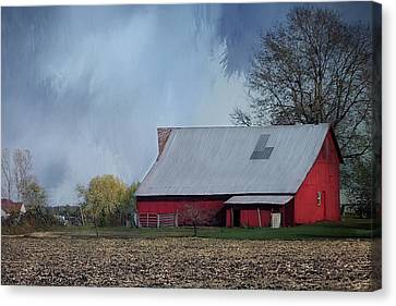 The Red Barn Canvas Print by Theresa Campbell