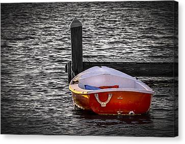 The Red Boat Canvas Print by Marvin Spates