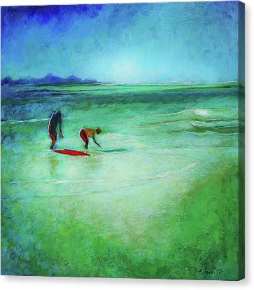 The Red Boogey Board Canvas Print