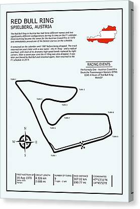 The Red Bull Ring Canvas Print by Mark Rogan